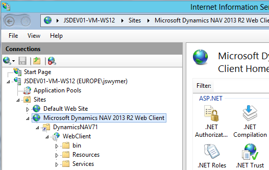 Deploying the Microsoft Dynamics NAV Web Client